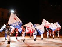Marostica, VI, Ιταλία - 9 Σεπτεμβρίου 2016: φορείς σημαιών κατά τη διάρκεια του SH Στοκ Εικόνες