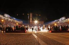 Marostica, VI, Italia - 9 settembre 2016: quadrato principale durante Fotografia Stock Libera da Diritti