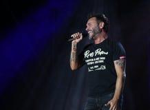 Marostica VI, Italien - Juli 7, 2017: Live Concert av NEK en Ital arkivfoto