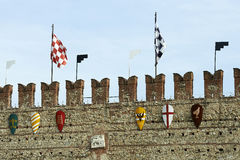 Marostica. (Vi),Italy, a castle tower of the lower castle Stock Photo