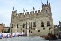 Marostica. (Vi),Italy, the lower castle Stock Photo