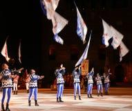 Marostica, VI, Italy - September 9, 2016: flag bearers during sh Royalty Free Stock Photos