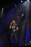 Marostica, VI Włochy, Lipiec, - 7, 2017: Żyje koncert NEK Ital Zdjęcia Stock