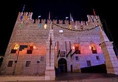 Marostica, VI Włochy, Wrzesień, - 9, 2016: Średniowieczny kasztel z d Fotografia Stock