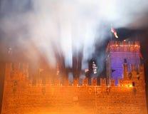 Marostica, VI Włochy, Wrzesień, - 9, 2016: Średniowieczny kasztel z t Zdjęcia Stock