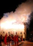 Marostica, VI Włochy, Wrzesień, - 9, 2016: Średniowieczny kasztel z t Obraz Royalty Free