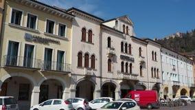 Marostica, Vicenza, Italien Das Schach-Quadrat Es ist berühmt, weil es ein Spiel des Schachs mit lebenden Charakteren gibt stock video