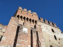 Marostica, Vicenza, Italy. The castle at the upper part of the town on the top of the hill. Wonderful day stock photography