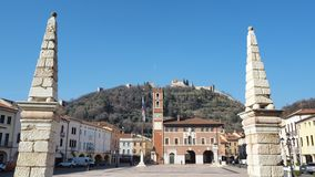 Marostica, Vicenza, Italy. The Chess Square stock image