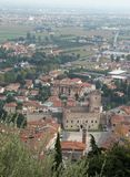 Marostica walls and castle near Vicenza Stock Photo