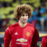 Marouane Fellaini in match 1/8 finals of the Europa League. Between FC `Rostov` and `Manchester United`, 09 March 2017 in Rostov-on-Don, Russia royalty free stock photos