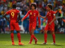 Marouane Fellaini , Romelu Lukaku and Axel Witsel Coupe du monde 2014 Stock Images