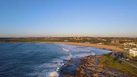 Maroubra Beach Aerial View stock footage
