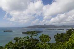 Marovo盐水湖在所罗门群岛 免版税图库摄影