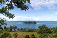 Marovo盐水湖在所罗门群岛 库存照片