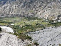 Marpha and Kali Gandaki river, Nepal Stock Photography