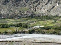 Marpha and Kali Gandaki river, Nepal Stock Images