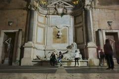 Marphurius springbrunn i Rome Royaltyfri Fotografi