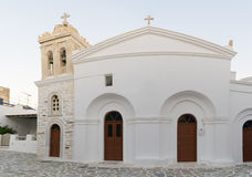 Marpissa's local church panoramic view at Paros island in Greece. Stock Photo