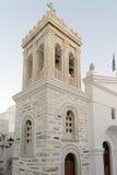 Marpissa's village local church at Paros island in Greece. Stock Images