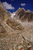 Marpogoro camside. Marpogoro campside is situated near the biafo glacier by the biafo-hispar traverse Stock Image
