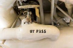 ` Marqué par valve par le ` de passage Image stock