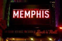 Marqués para Memphis musical, Manhattan, NYC Foto de archivo