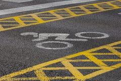 Marquage routier de Motorcyle Photographie stock libre de droits