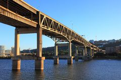 Marquam Bridge, Portland, Oregon Stock Photo