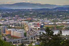 Marquam Hill Freeway Over River Royalty Free Stock Images