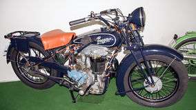 Marque antique PRAGA 500 BD, 499 ccm, 1928, musée de moto de moto Images stock