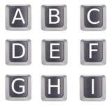 Marque avec des lettres a à I Images libres de droits