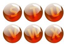 Marque avec des lettres des sphères Photographie stock