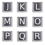 Marque avec des lettres j à r Image stock