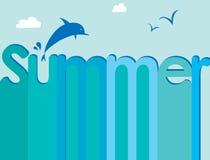Marque avec des lettres l'été Photo stock