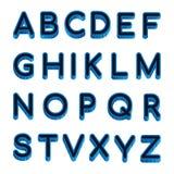 Marque avec des lettres l'alphabet latin d'isolement sur le fond blanc Alphabet anglais d'échantillon d'illustration de vecteur illustration stock