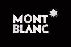 Marque avec des lettres Mont Blanc Image stock