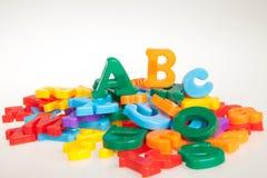 marque avec des lettres multicolore Images libres de droits
