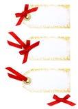 Marque con etiqueta con el arqueamiento Foto de archivo libre de regalías