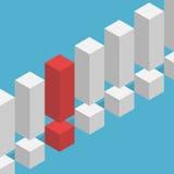 Marque d'exclamation rouge unique Photo libre de droits
