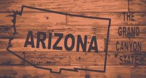 Marque de carte de l'Arizona Illustration Stock