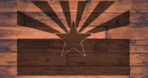 Marque de drapeau d'état de l'Arizona Images stock