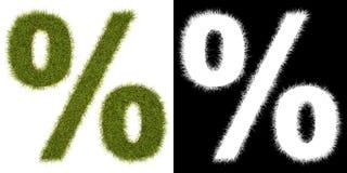 Marque % de la hierba con el canal alfa Fotografía de archivo