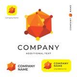 Marque de Logo Modern Scientific Identity Beautiful de molécule et calibre réglé de concept commercial de symbole d'icône d'APP Photographie stock libre de droits