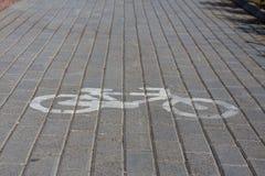 Marque de route de bicyclette Image libre de droits