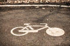 Marque de voie pour bicyclettes Photo libre de droits