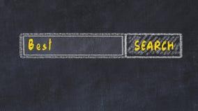 Marque el bosquejo con tiza del Search Engine E almacen de video