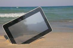 Marque en la tableta el ordenador imagen de archivo libre de regalías