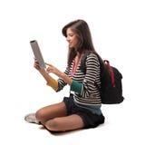 Marque en la tableta la PC Imagen de archivo libre de regalías