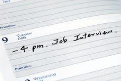 Marque a entrevista de trabalho Fotografia de Stock